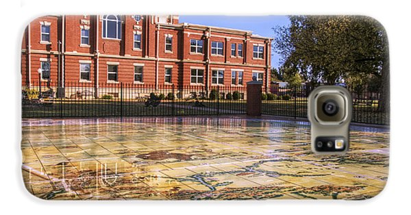 Kiowa County Courthouse With Mural - Hobart - Oklahoma Galaxy S6 Case
