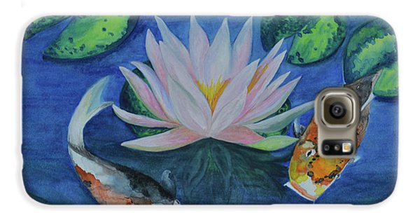 Koi In The Lily Pond Galaxy S6 Case