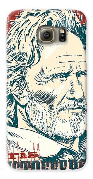 Kris Kristofferson Pop Art Galaxy S6 Case
