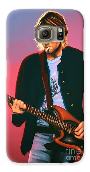 Kurt Cobain In Nirvana Painting Galaxy S6 Case by Paul Meijering