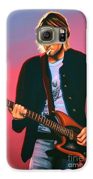 Kurt Cobain In Nirvana Painting Galaxy S6 Case by Paul Meijering