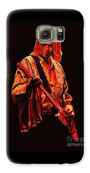 Kurt Cobain Painting Galaxy S6 Case by Paul Meijering