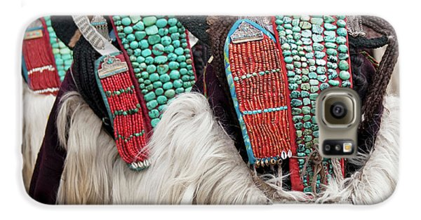 Yak Galaxy S6 Case - Ladakh, India Married Ladakhi Women by Jaina Mishra