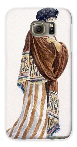 Ladies Dress With Velvet Shawl Galaxy S6 Case by Pierre de La Mesangere