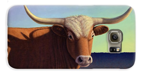 Bull Galaxy S6 Case - Lady Longhorn by James W Johnson