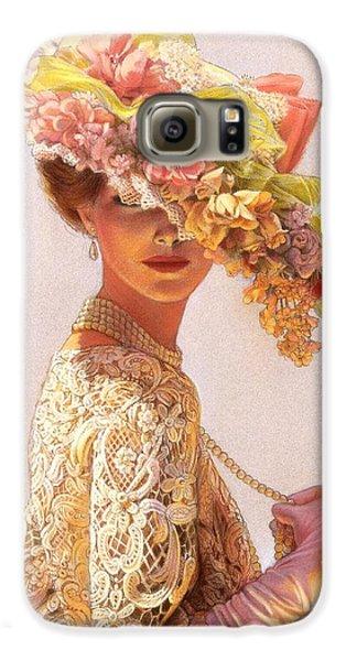 Flowers Galaxy S6 Case - Lady Victoria Victorian Elegance by Sue Halstenberg
