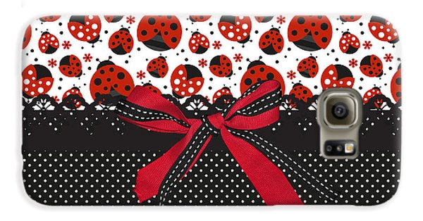 Ladybug Energy  Galaxy S6 Case by Debra  Miller