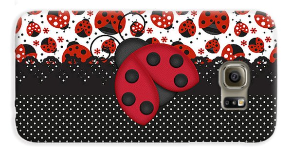 Ladybug Mood  Galaxy S6 Case by Debra  Miller