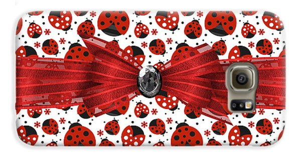 Ladybug Obsession  Galaxy S6 Case by Debra  Miller