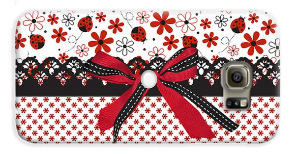 Ladybug Whisper  Galaxy S6 Case by Debra  Miller