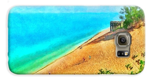 Lake Michigan Overlook On The Pierce Stocking Scenic Drive Galaxy S6 Case