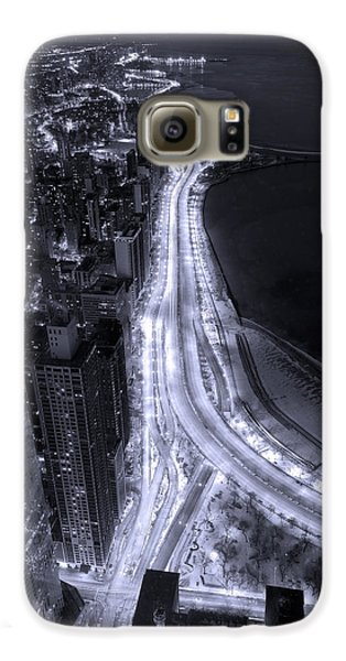 Lake Shore Drive Aerial  B And  W Galaxy S6 Case by Steve Gadomski