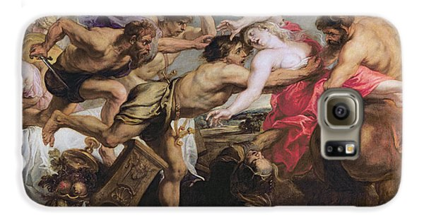 Lapiths And Centaurs Oil On Canvas Galaxy S6 Case by Peter Paul Rubens