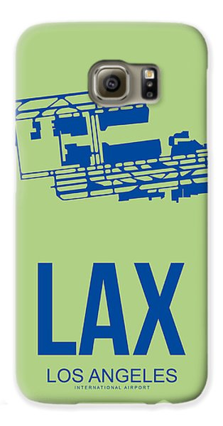 Lax Airport Poster 1 Galaxy S6 Case by Naxart Studio