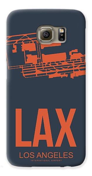Lax Airport Poster 3 Galaxy S6 Case by Naxart Studio