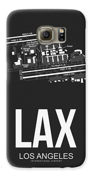 Lax Los Angeles Airport Poster 3 Galaxy S6 Case by Naxart Studio