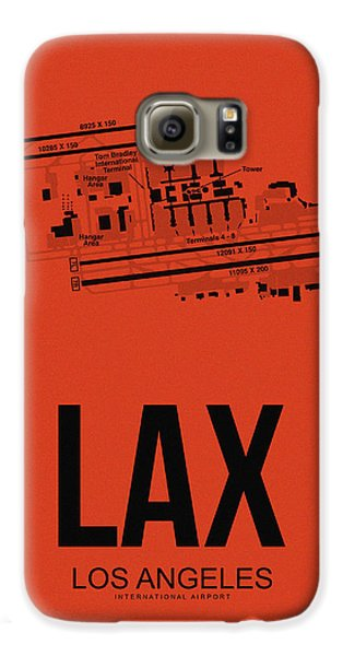 Travel Galaxy S6 Case - Lax Los Angeles Airport Poster 4 by Naxart Studio