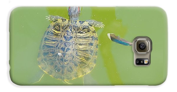 Lazy Summer Afternoon - Floating Turtle Galaxy S6 Case