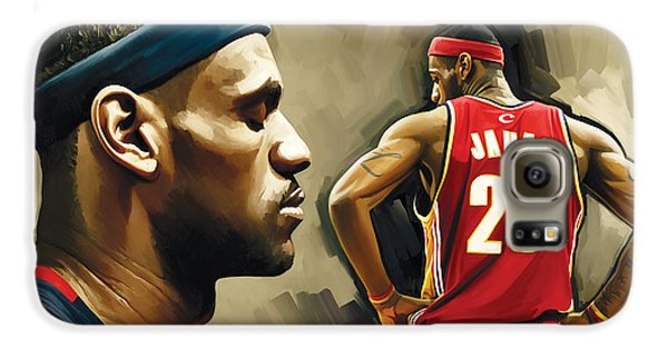 Lebron James Artwork 1 Galaxy S6 Case by Sheraz A