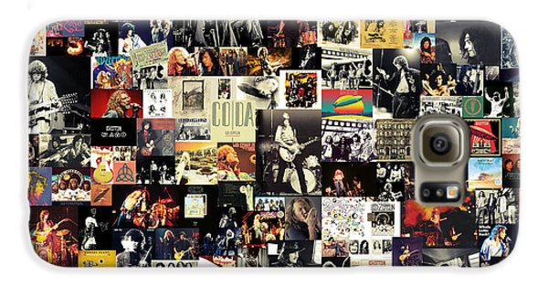 Led Zeppelin Galaxy S6 Case - Led Zeppelin Collage by Taylan Apukovska