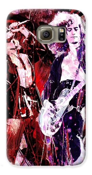 Led Zeppelin Galaxy S6 Case - Led Zeppelin - Jimmy Page And Robert Plant by Ryan Rock Artist