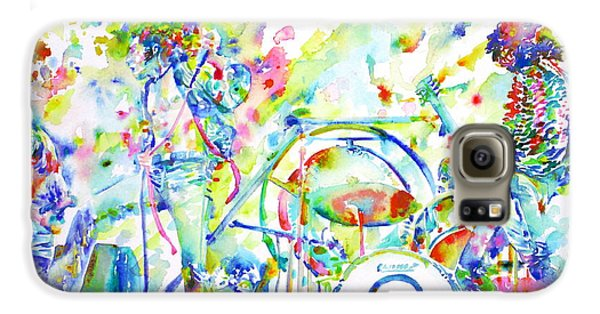Led Zeppelin Live Concert - Watercolor Painting Galaxy S6 Case by Fabrizio Cassetta