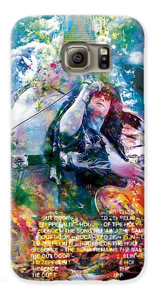 Led Zeppelin Original Painting Print  Galaxy S6 Case by Ryan Rock Artist