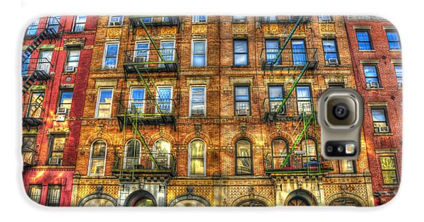 Led Zeppelin Galaxy S6 Case - Led Zeppelin Physical Graffiti Building In Color by Randy Aveille