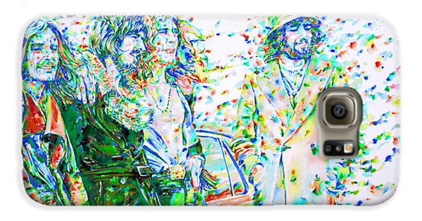 Led Zeppelin - Watercolor Portrait.2 Galaxy S6 Case by Fabrizio Cassetta