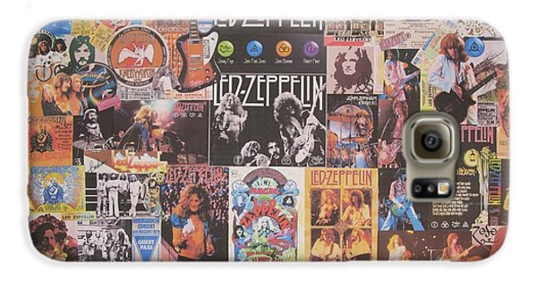 Led Zeppelin Galaxy S6 Case - Led Zeppelin Years Collage by Donna Wilson