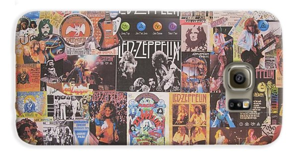 Drum Galaxy S6 Case - Led Zeppelin Years Collage by Donna Wilson
