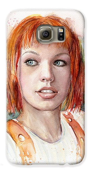 Leeloo Portrait Multipass The Fifth Element Galaxy S6 Case by Olga Shvartsur