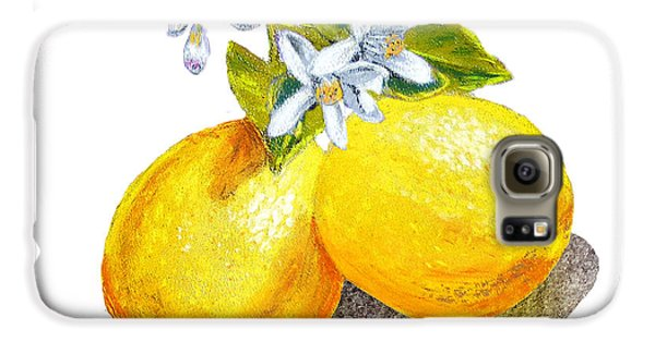 Lemons And Blossoms Galaxy S6 Case
