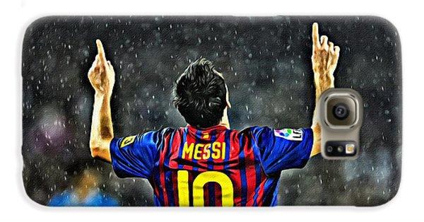 Leo Messi Poster Art Galaxy S6 Case
