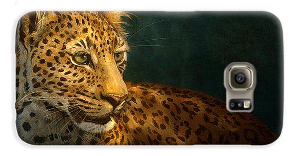 Leopard Galaxy S6 Case - Leopard by Aaron Blaise