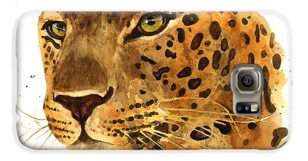 Leopard Gaze Galaxy S6 Case by Alison Fennell