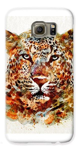 Leopard Head Watercolor Galaxy S6 Case