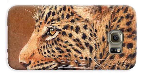 Leopard Portrait Galaxy S6 Case by David Stribbling
