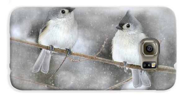 Titmouse Galaxy S6 Case - Let It Snow by Lori Deiter