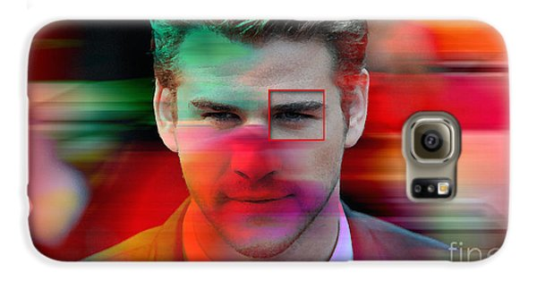 Liam Hemsworth Painting Galaxy S6 Case by Marvin Blaine