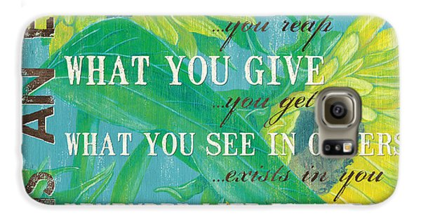 Sunflower Galaxy S6 Case - Life Is An Echo by Debbie DeWitt
