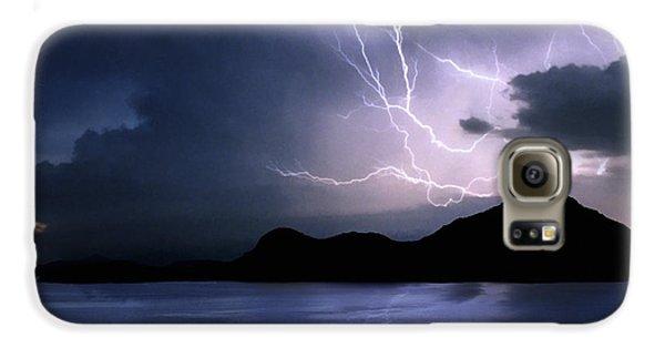 Lightning Over Quartz Mountains - Oklahoma Galaxy S6 Case