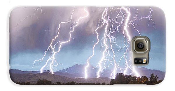 Lightning Striking Longs Peak Foothills 4c Galaxy S6 Case by James BO  Insogna