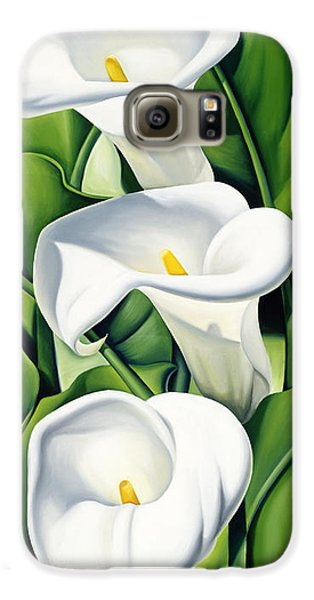 Lily Galaxy S6 Case - Lilies by Catherine Abel