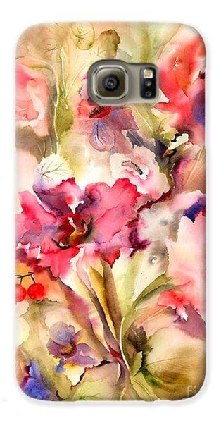 Lilies Galaxy S6 Case by Neela Pushparaj