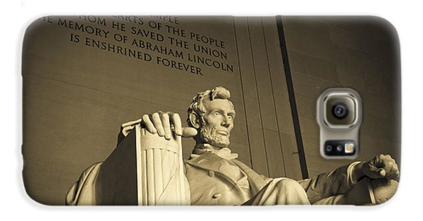 Lincoln Statue In The Lincoln Memorial Galaxy S6 Case by Diane Diederich