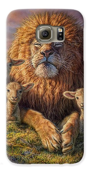 Lion Galaxy S6 Case - Lion And Lambs by Phil Jaeger