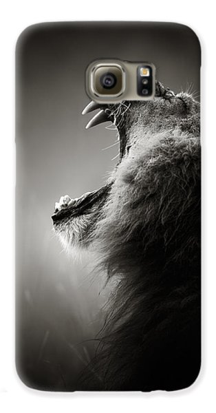 Lion Displaying Dangerous Teeth Galaxy S6 Case by Johan Swanepoel