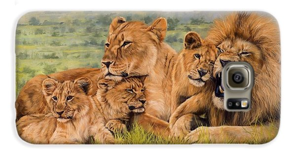 Lion Family Galaxy S6 Case by David Stribbling