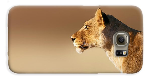 Lioness Portrait Galaxy S6 Case